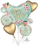 Mint To Be Balloon Bouquet, Price Per Package of 5 Foil Balloons
