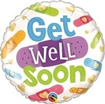 22 inch BUBBLES Get Well Soon! Sunny Day (PKG), Price Per EACH