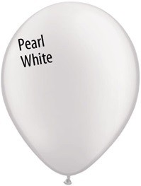 16 inch Qualatex Pearl WHITE, Price Per Bag of 25