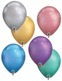 7 inch CHROME ASSORTMENT Qualatex, Price Per Bag of 25