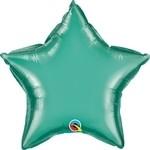 20 inch CHROME GREEN Qualatex Star Foil Balloon, Price Per EACH