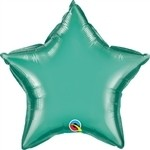 20 inch CHROME GREEN Qualatex Star Foil Balloon, Price Per EACH