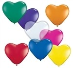 6in Qualatex Heart JEWEL Assortment, Price Per Bag of 100