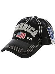 Distressed America Hat