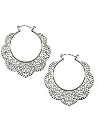 Lucy Hoops Silver