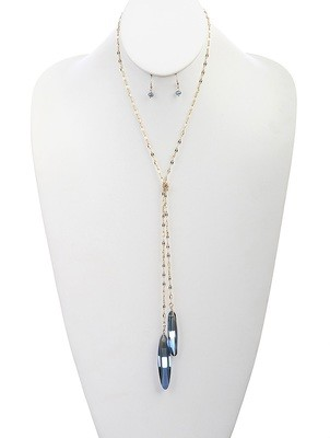 Camille Necklace Set Blue