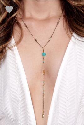 Boho love necklace
