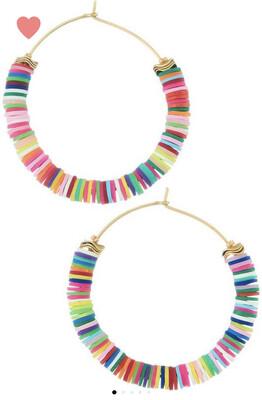 Rainbow Bright Hoops