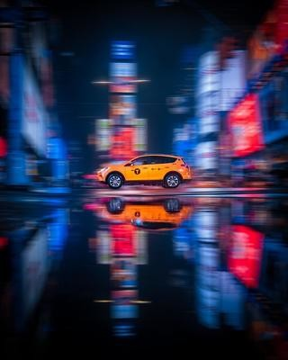 NEW YORK CITY NIGHT TAXI 2