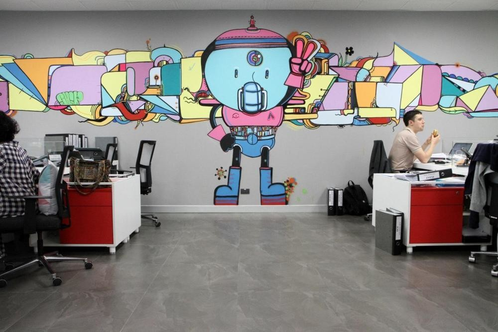 MTV EXIT BANGKOK OFFICE MURAL PAINTING 6