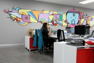 MTV EXIT BANGKOK OFFICE MURAL PAINTING 7