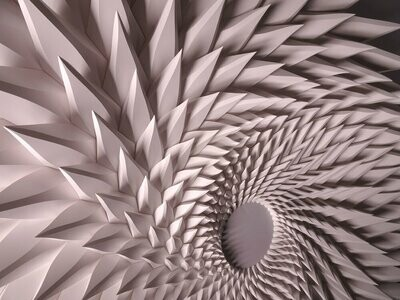 Geometric Paper Sculpture 10 (Title unspecified)