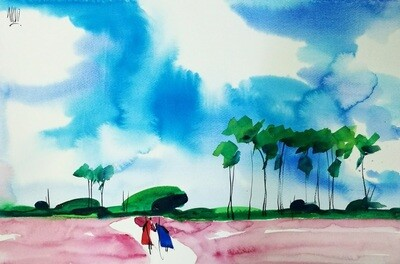 Watercolor on paper 15 (Title unspecified)
