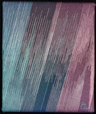 Machine stitching on canvas 18 (Title unspecified)