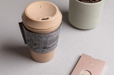 Kaffee to go Becher aus Reis 400ml