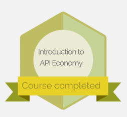 Introduction to API Economy course Certificate of Achievement