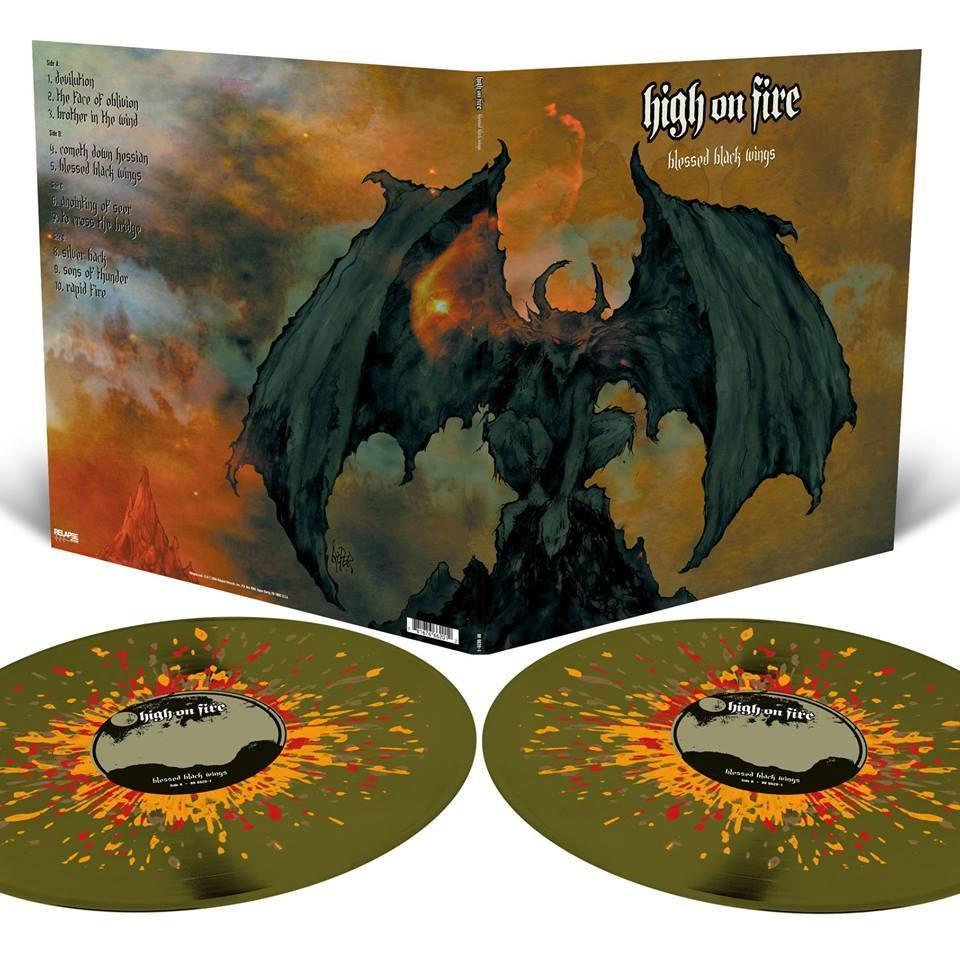 High on Fire - Blessed Black Wings - 2LP- Swamp Green splatter -