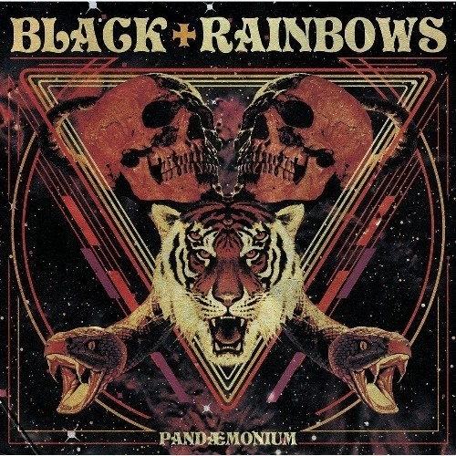 BLACK RAINBOWS - PANDAEMONIUM - Orange Fluor Splatter