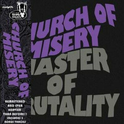 Church Of Misery - Master Of Brutality - 2LP- Gold Sparkle, Ed. 30 Aniversario