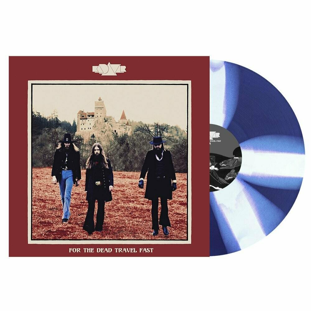 Kadavar - For The Dead Travel Fast. Blue/White Cornetto Vinyl