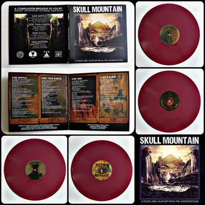 Skull Mountain: A Four Label Sampler From The Underground - 2LP - Oxblood Ed.