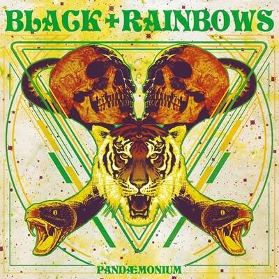 Black Rainbows - Pandaemonium [2020 Repress] --Yellow Splatter Black / Green Fluo / Red Vinyl - (White Cover) (PreOrder)