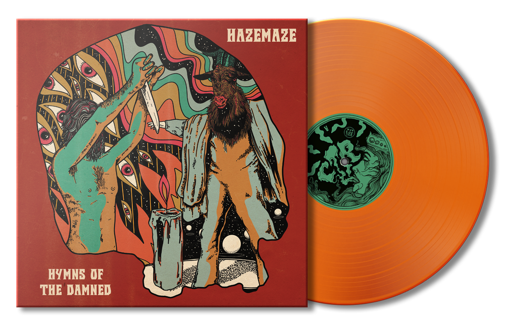 HAZEMAZE - 'HYMNS OF THE DAMNED' LTD FUNERAL PYRE ORANGE EDITION - LP