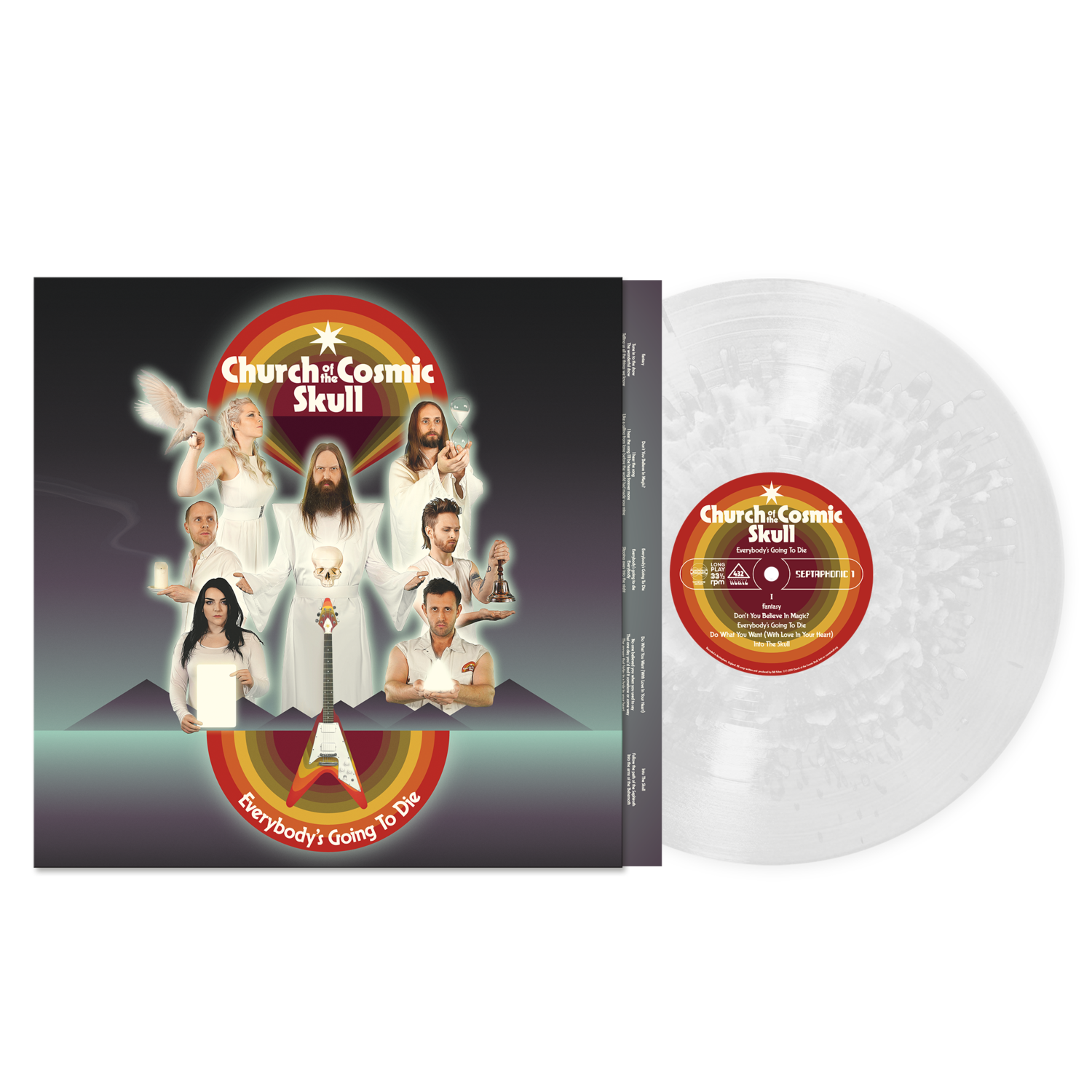 Church Of The Cosmic Skull - Everybody's Going To Die - (Exploding Crystal Edition) LP (PreOrder)