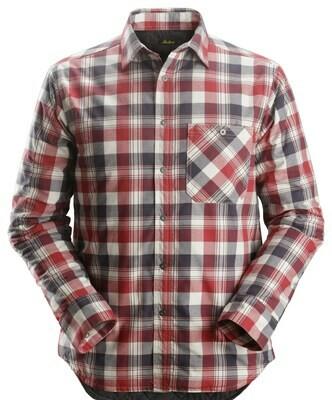 Snickers 8501 RuffWork, Geruit Gevoerd Flanellen Shirt met Lange Mouwen