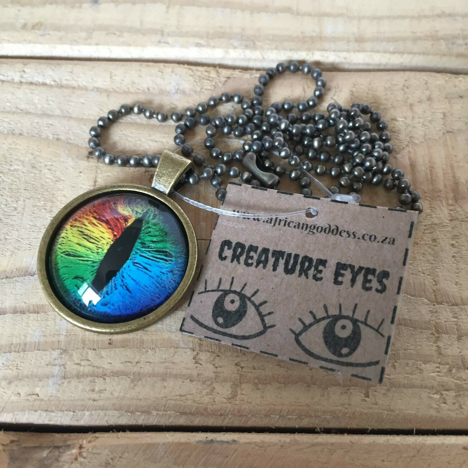 Creature Eye 25mm Pendant Necklace - Multi B