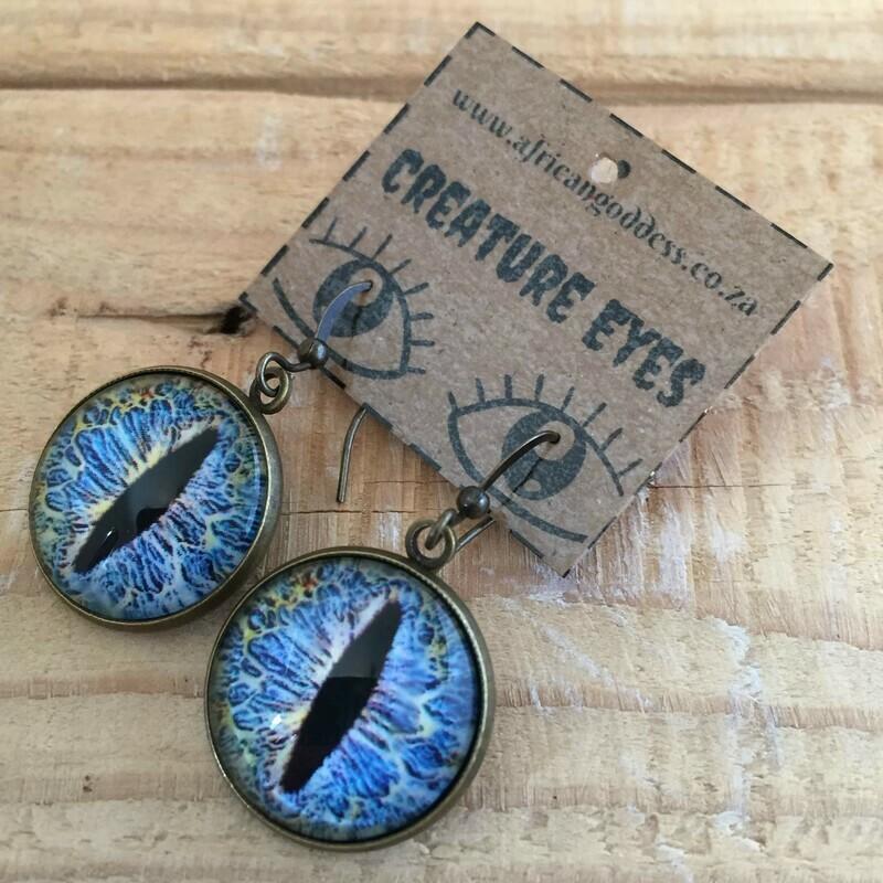 Creature Eye 18mm Dangle Earrings - Blue 1