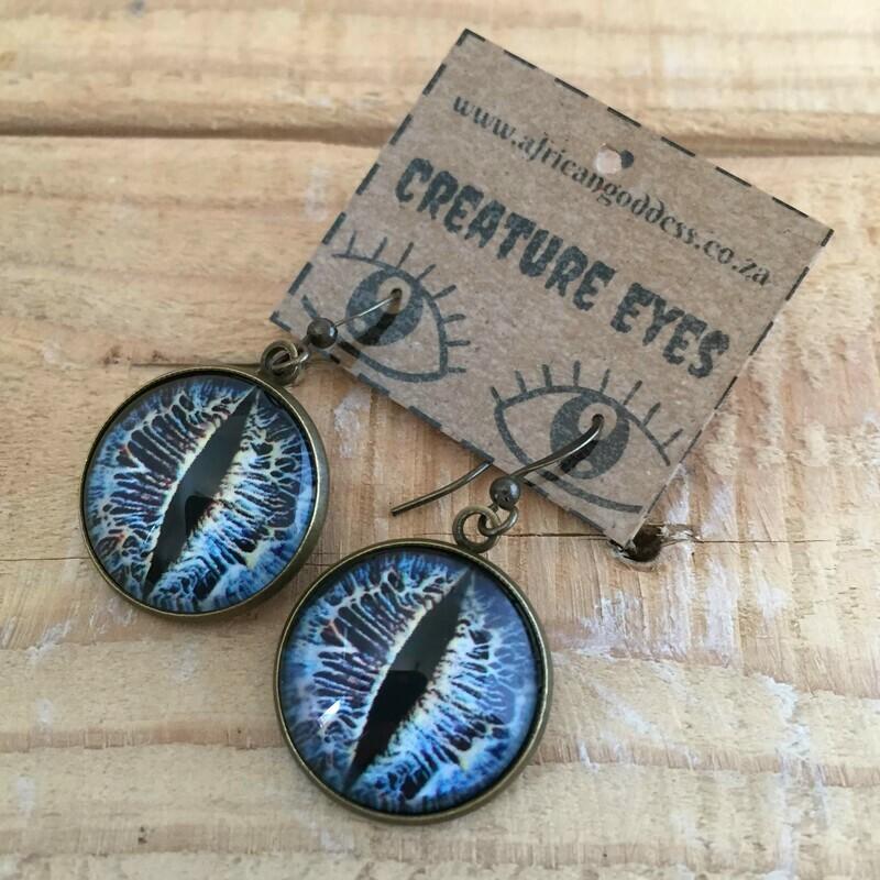 Creature Eye 18mm Dangle Earrings - Blue 2