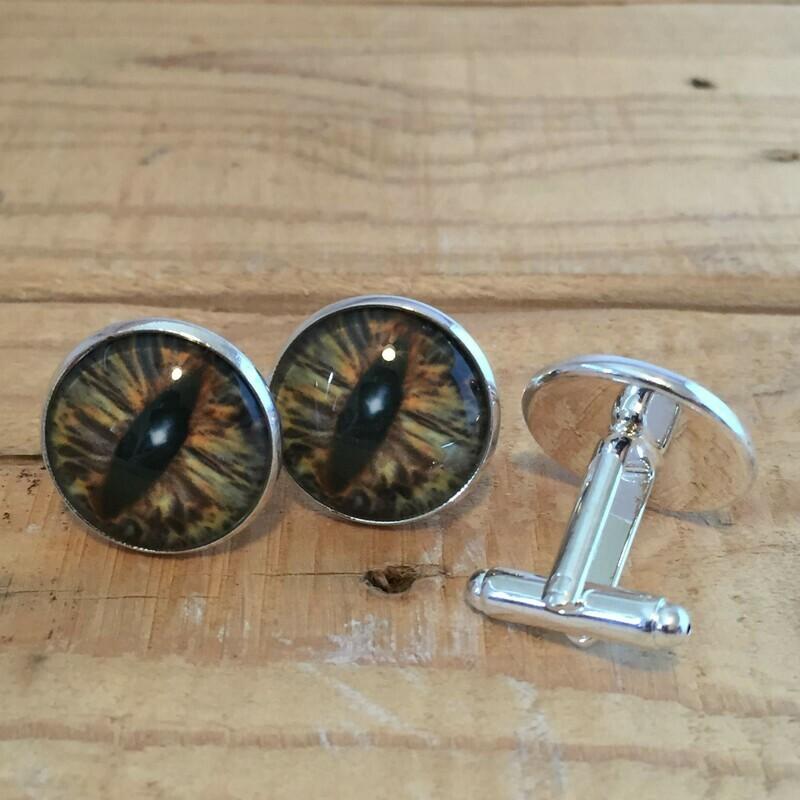 Creature Eye 18mm Cuff Links - Brown 1