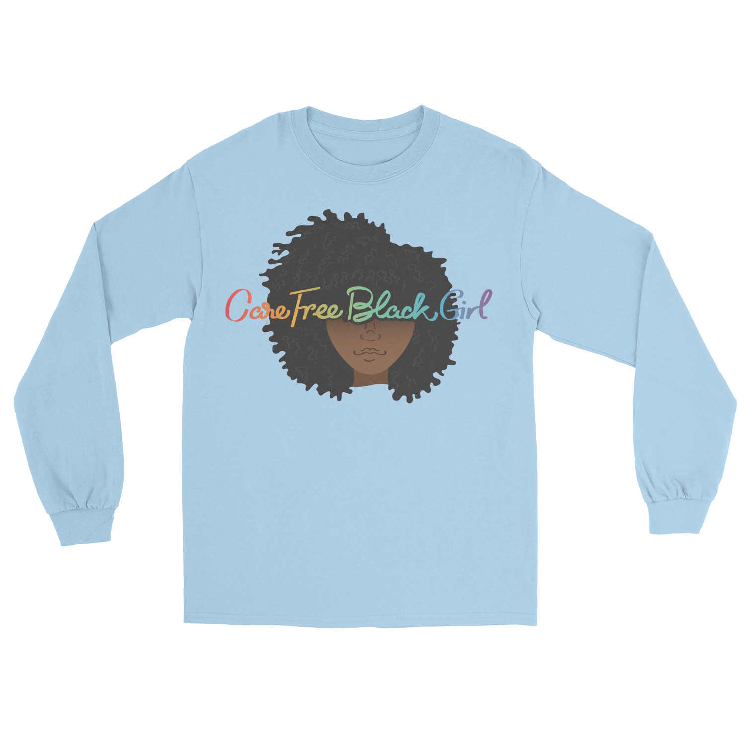 CAREFREE BLACK GIRL LS TEE