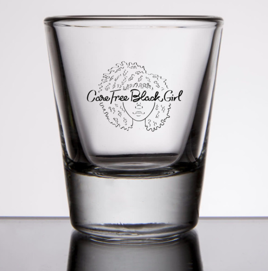 CAREFREEBLACKGIRL SHOT GLASS