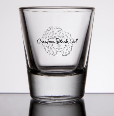 CAREFREEBLACKGIRL SHOT GLASS