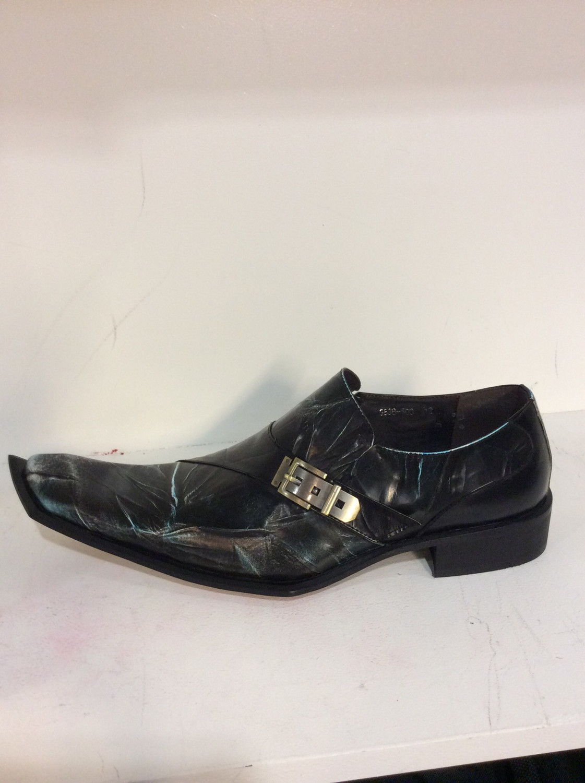 Men unique leather shoes size
