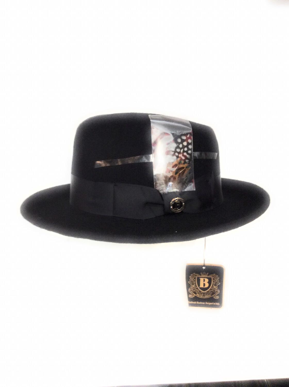 Men fedora hats 100% Australia wool color black