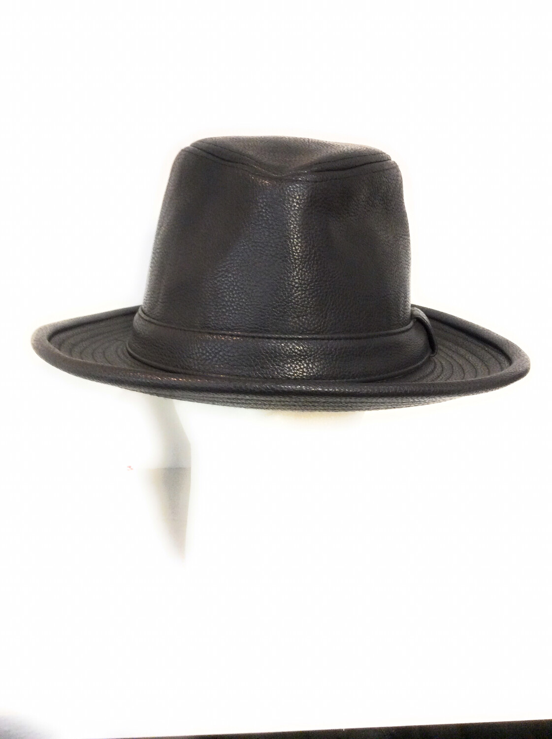 Men fedora hats Pu leather color Black AnD Brown