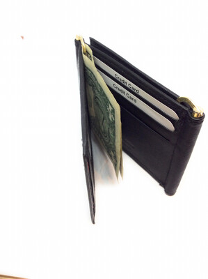 Money clips leather wallet