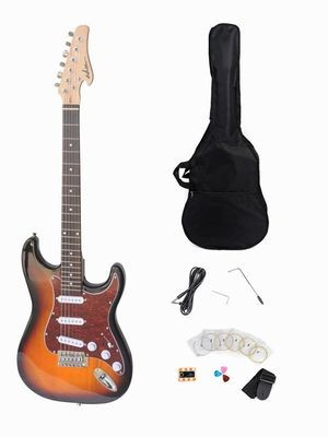 Solid ST Electric Guitar Package with Rosewood Fingerboard, Sunburst Finish