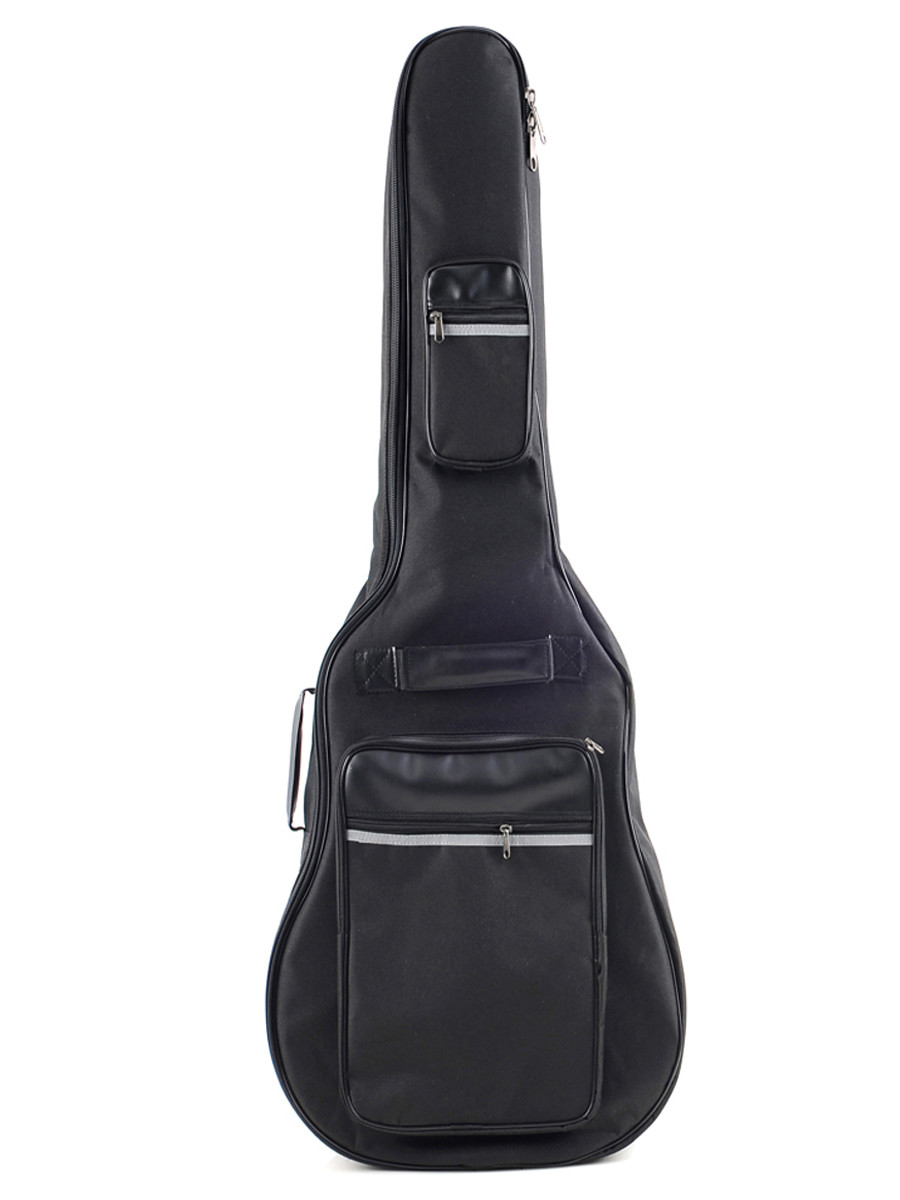 Acoustic Guitar Nylon Padded Gig Bag with Pockets, Straps and Handles