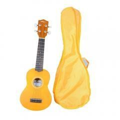 21 Inch Soprano Ukulele, Honey Yellow Color also with Gig Bag
