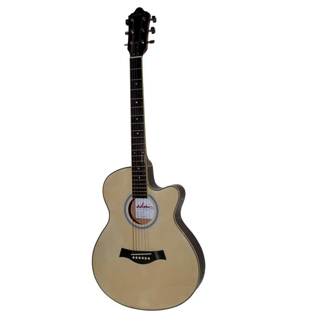 Premium Cutaway Electric Acoustic Guitar, Extreme Thin Body, Natural Gloss