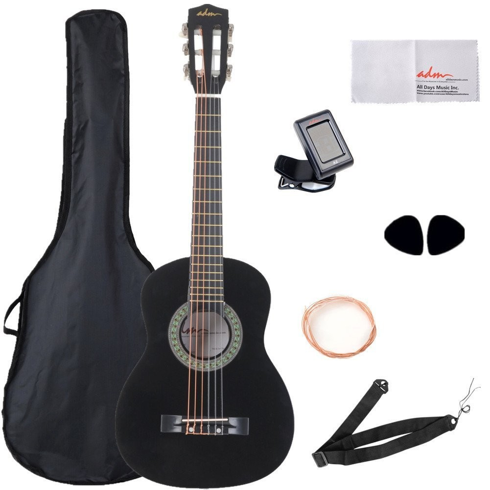 30 Inch Beginner Acoustic/Classical Guitar~Carry Bag & Acces, Black