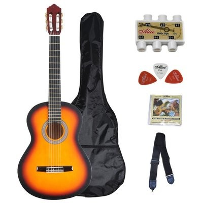 39 Inch Student Classical Guitar Package- SB color (Matte)