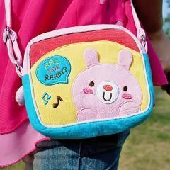 Pink Rabbit~Embroidered Applique Swingpack Bag Purse~Wallet~Shoulder Bag