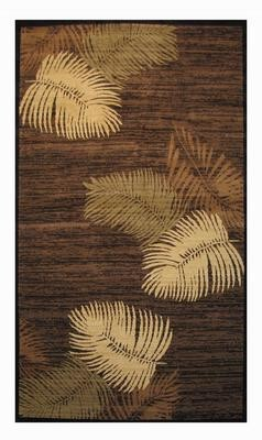 Tan and Brown Feathers Crown Area Rug 2'x8