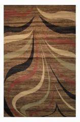 Tan and Brown Pattern Crown Area Rug 2'x8'