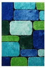 "Exotic - New Blue and Green Area Rug 39""x 58"""